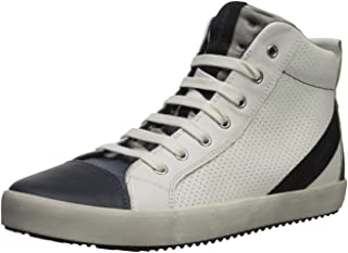 Geox Alonisso BOY 15 Sneaker, White/Navy, 25 M EU Toddler (8.5 US)