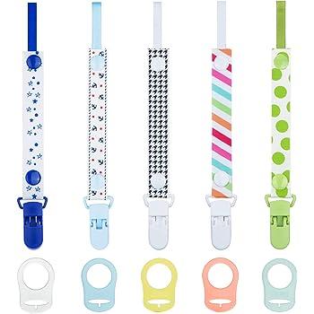 Catenella Portaciuccio Bambini elastico silicone colore celeste idea regalo originale natale compleanno