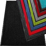 TrendMakers Dirt Trapper Door Mat - Barrier Mat | Indoor and Outdoor Mats | Super Absorbent 100% Polymide Pile & Non-Slip Doormats | Black - 60x80cm