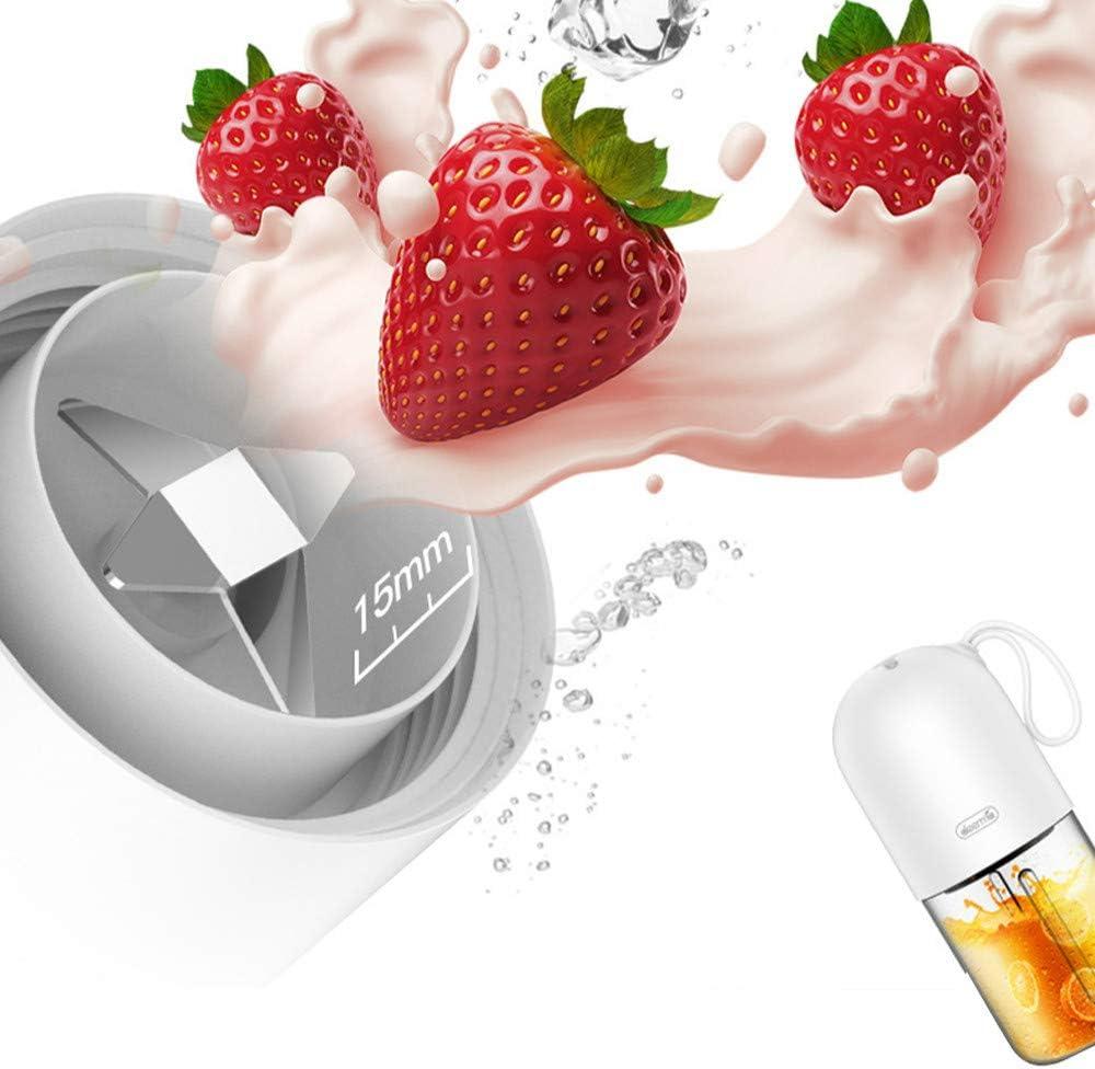 Mini Portátil Exprimidor De Frutas, Mezclador Eléctrico De Cocina, Forma De Cápsula Potente Taza De Jugo Eléctrico Blanco Blanco
