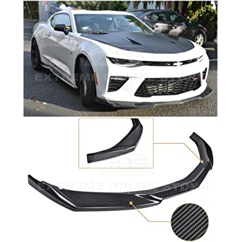 Front Bumper Lip Compatible With 2016-2018 Chevrolet Camaro Factory Style Matte Black ABS Front Lip Finisher Under Chin Spoiler Add On by IKON MOTORSPORTS