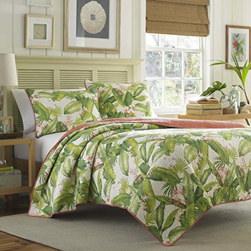 Tommy Bahama Aregada Dock Ecru Quilt Set, Queen