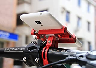MaxMiles Motorcycle and Bicycle Cell Phone Holder Aluminum Universal Adjustable Phone Mount Smartphone Holder Bike Handlebar Phone Holder for iPhone X XR 5 6 7 8 Plus Samsung LG