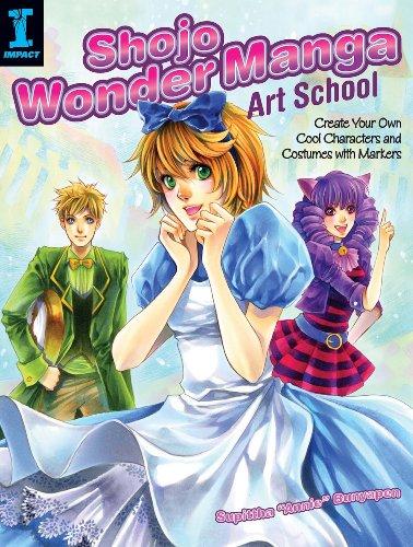 Shojo Wonder Manga Art School: Create Your Own Cool Characters and Costumes with Markers (English Edition)