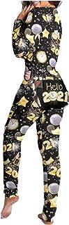 Mono de Pijama Sexy para Mujer - Lady Pajama Suit Back Butt Bum Open Ass Loungewear, Pantalones de Mameluco Ajustado de Manga Larga con Cuello en V Profundo y Sexy para Mujer