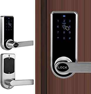 Door Lock Home Smart Keyless 12 Digitals Electronic Touchscreen Keypad Lever Lock Set Security Entry Door Code Lock for Office Hotel Apartment