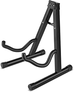 Flexzion Guitar A-Frame Stand Floor Support for Acoustic and Electric Guitars - Portable Instrument Stand Rack Holder Disp...
