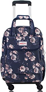 "Ladies Students Holdall Trolley Bag Travel Luggage Handbag 17"" (Color : E, Size : L33×W17×H44cm)"