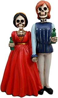 Day of The Dead Romeo and Juliet Skeleton Couple Figurine Love Never Dies Medieval Gothic Fantasy Shakespeare Dia De Muertos
