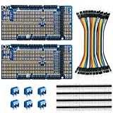 ElectroCookie Proto Shield Kit Compatible with Arduino Mega R3, Stackable DIY Expansion Prototype PCB (2 Pack)