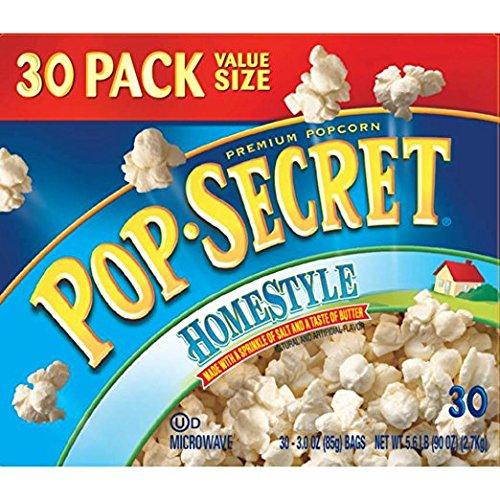 Pop Secret Popcorn, Homestyle, 30 Count Of 3oz Bags Each
