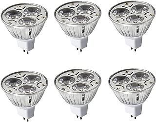 JKLcom MR16 3W LED Bulbs MR16 3W 12V Warm White 2700K Not Dimmable 60 Degree Beam Angle LED Spotlight Bulbs for Landscape Recessed Lighting,35W Halogen Bulbs Equivalent,6 Pack