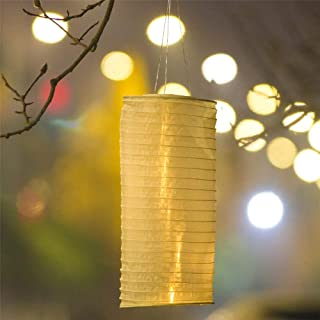 Elnsivo Solar Operated Hanging LED Lights with Handle Outdoor Solar Lanterns Decor for Garden Patio Party Holiday (Solar Lantern)
