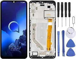 Zhoutao Ersättningsdelar för mobiltelefon LCD-skärm och digitaliserare full montering med ram för Alcatel 3X 2019 5048Y 50...