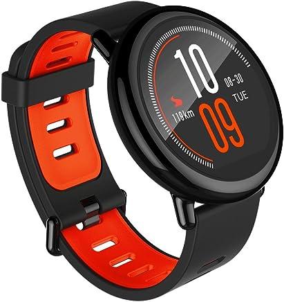 Xiaomi AMAZFIT Pace - Smartwatch con GPS Multideporte 1.34'' Táctil, GPS y Bluetooth, Monitor de Ritmo Cardíaco, Reproduce música sin Móvil, negro (versión global) iOs y Android