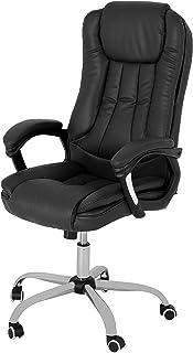 YITAHOME Chaise de bureau ergonomique en cuir synthétique avec dossier haut et accoudoirs rembourrés - Grand siège souple...
