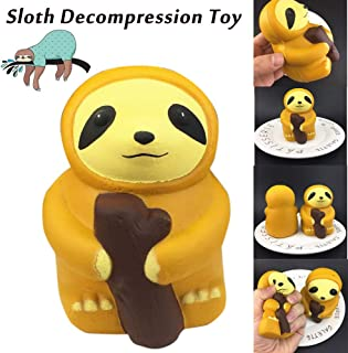 Highpot Slow Rising Jumbo Squishies Toys Cute Sloth Creamy Scent for Kids Party Toys Stress Reliever Toy