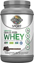 Garden of Life Sport Certified Grass Fed Clean Whey Protein Isolate, Chocolate, 23.7oz (1lb 7.7oz / 672g) Powder
