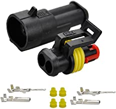 Karcy 2 Pin Way Waterproof Electrical Connector for Automotive Universal Connector Plug Pressure line 1.5mm Series Terminals Heat Shrink 10 Kit