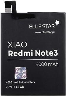 Blue Star Premium - Batería de Li-Ion litio 4000 mAh de Capacidad Carga Rapida 2.0 Compatible con el Xiaomi Redmi Note 3 / Note 3 Pro