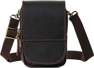 Bolso Cinturón de Cuero de bandorela para Hombre-Riñonera Piel para Teléfono de 4~6 Pulgada Negro01