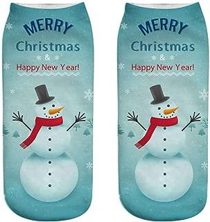 Christmas Socks, GUTTEAR Cartoon 3D Printed Socks Low Cut Cooton Socks Dress Socks Trouser Socks