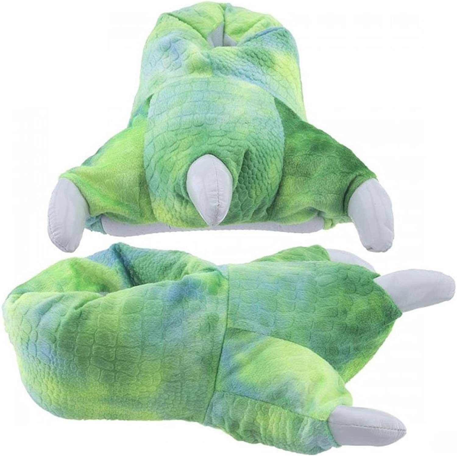 Wishpets Dinosaur Claw Slippers w White Claws (Green)
