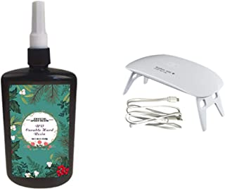 250ML Crystal Epoxy Resin UV Glue Nail Art Tools, 1 Pcs Mini UV LED Lamp For DIY Home Professional Handcraft Jewelry Earri...