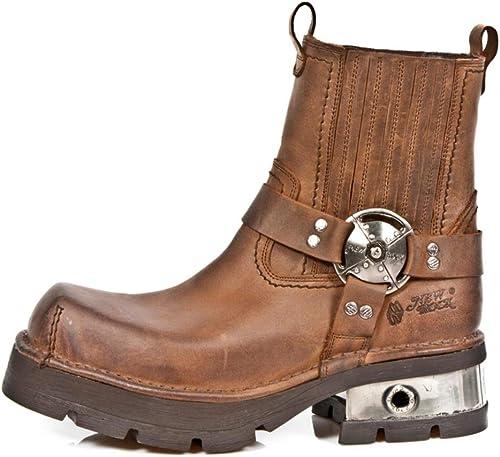New Rock M.1605 S2 marrón - botas, Motocicleta, hombres