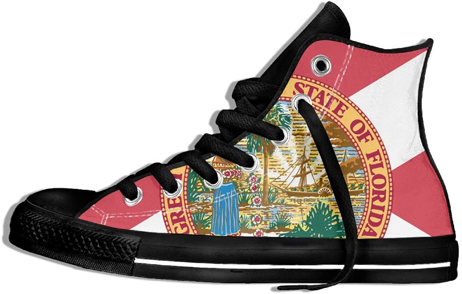 Florida Flag High Top Classic Casual Canvas Fashion shoes Sneakers For Women & Men