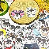 PMSMT 40 Uds, Pegatina de Dibujos Animados de pingüino de Ocio, Impermeable para Libro, Ordenador portátil, Moto, monopatín, Equipaje, Guitarra, Muebles, calcomanía, Pegatinas de Juguete