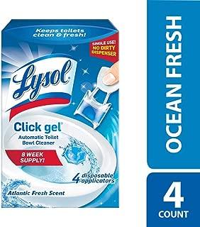 Lysol Click Gel Automatic Toilet Bowl Cleaner, Ocean Fresh, 4ct