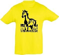 2Store24 Camiseta Niños Caballo galopante para niños y niñas