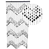HAB & GUT -DV0323- Cortina para Puertas Gotas, Negro, 90 x 200 cm