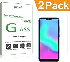 RKINC for Huawei Honor 10 Screen Protector, [2 Pack] Crystal Clear Tempered Glass Screen Protector [9H Hardness][2.5D Edge][0.33mm Thickness][Scratch Resist] for Huawei Honor 10