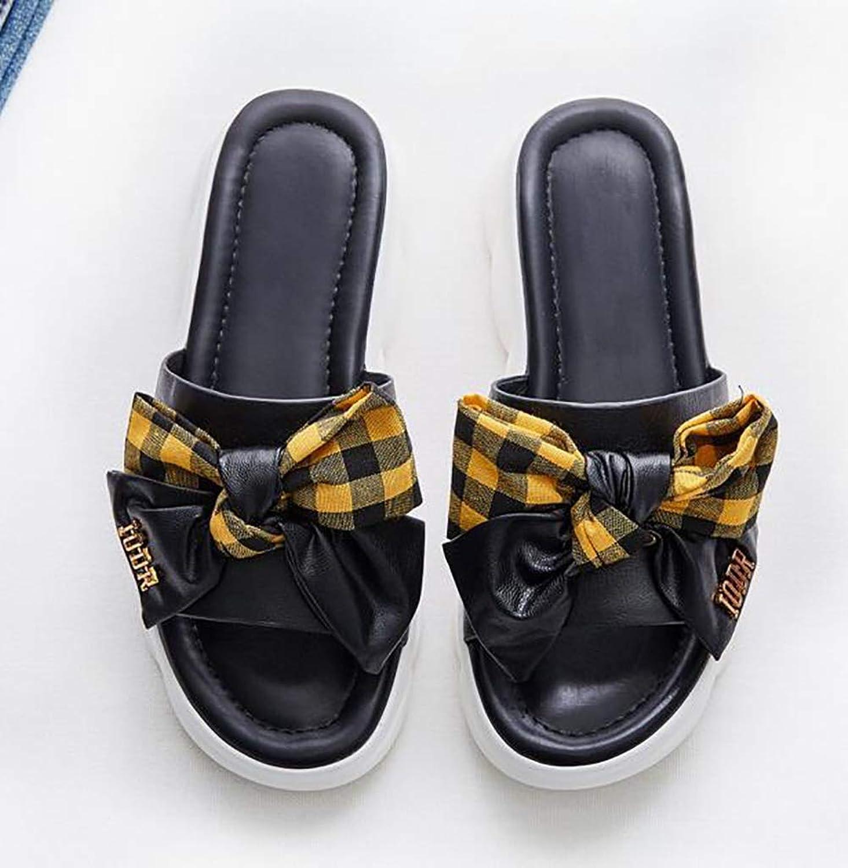 Women's Bow Bohemia Comfortable Summer Non-Skid Wedge Sandals Beach shoes