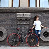 Kyman Bicicleta de Carretera, Bicicletas de montaña, Hard Tail Bicicletas, Bicicletas de 27 Pulgadas, 21/27/30/33 Velocidad de Bicicletas, Bicicletas Anti-Slip, Freno de Disco de Bicicletas