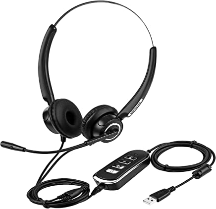 Cuffia con Microfono USB, SAWAKE Cuffie con Archetto Chiuso, Cuffie PC Computer, Ufficio cuffie, Usi-Multible USB 3.5mm, Riduzione del Rumore, per Skype iPhone PS4 Telefono, Nero - Trova i prezzi più bassi