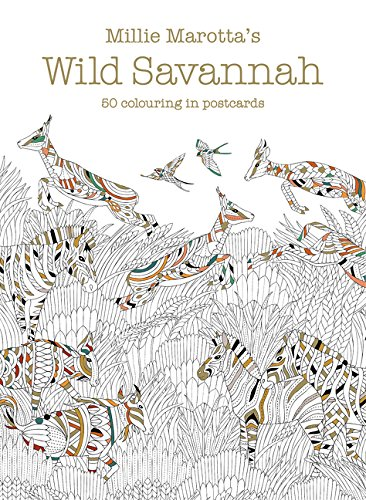 Millie Marotta's Wild Savannah Postcard Box: 50 beautiful cards for colouring in (Colouring Books, Band 17)