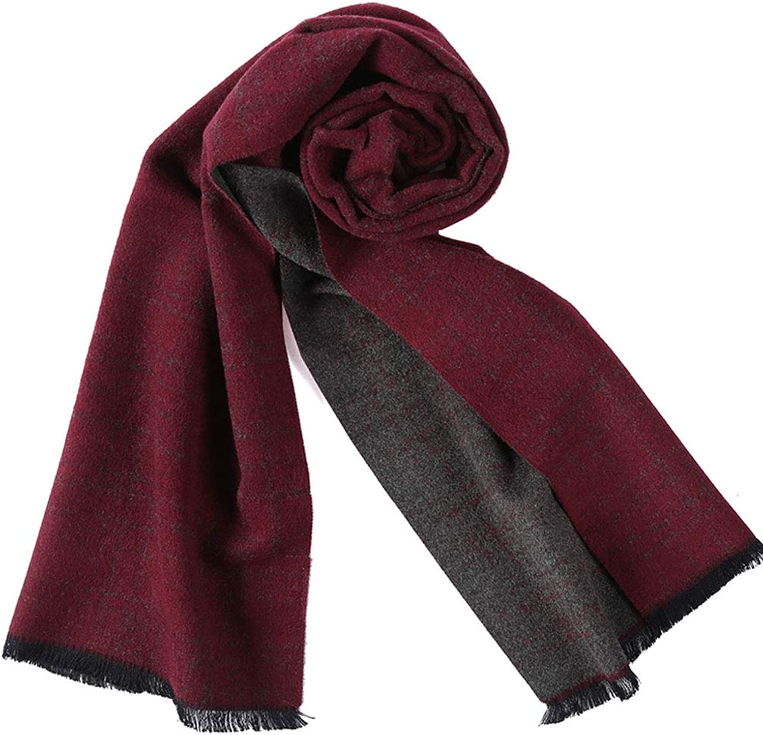 ZDD Winter Korean Brushed Tassel DoubleSided Jacquard Warm Wool Scarf (color   RED, Size   30x176cm)