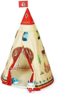 Indian Teepee Play Tent Princess Kids Play House Large Indoor/Outdoor Tunnel Pop Up Toys For Baby Parent-child Gift, Summer Shade Toy Play Tent - Conveniently Folds with a Carry Bag