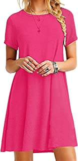 Best hot pink tshirt dress Reviews