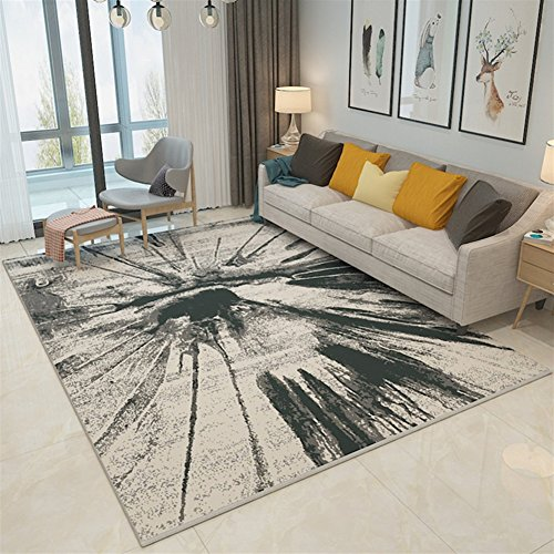 Ommda tappeti Salotto Soggiorno Moderni Home Stampa 3D Astratta tappeti Soggiorno Pelo Corto Antiscivolo Lavabili Multicolore 140x200cm 9mm