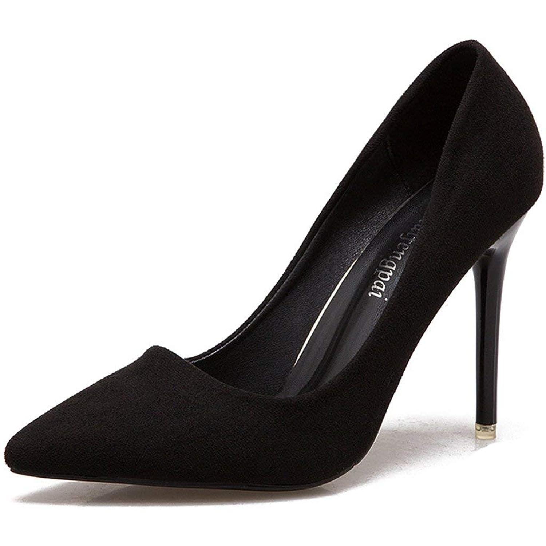 [NOMSOCR] パンプス ポインテッドトゥ 痛くない ヒール10cm ウェディングシューズ レディース ハイヒール シンプル 歩きやすい 痛くない ピンヒール 脱げない 美脚 冠婚葬祭?ディリー 靴