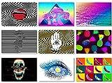 Poster Psychedelic Trippy abstrakt Pop Art Style Banane