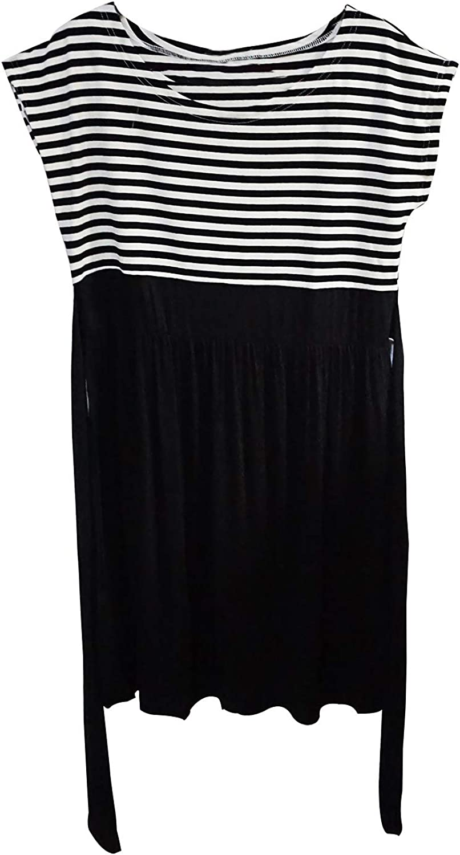 Bellady Women's Summer Short Sleeve Striped Maternity Dress