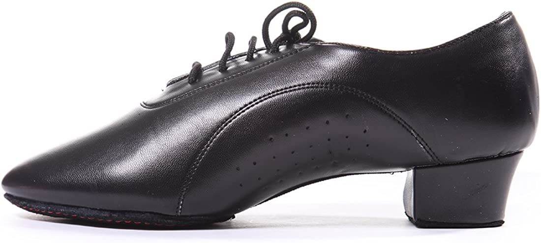 Tango,Viennese Waltz DoGeek Latin Dance Shoes Leather Breathable Lace up Modern Dancing Shoes Latin Shoes for Men Ballroom Children and