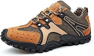 أحذية الركض Fmdagoummziyund للرجال، أحذية رياضية رياضية للرجال مصنوعة من نسيج شبكي بفتحات هواء خارجي لممارسة الرحلات الريا...