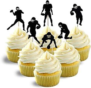 American football Silhouette Cupcake Topper Cardstock 12 per Pack Cupcake