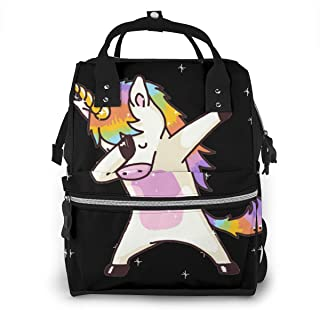 Unicorn Cute Dabbing Funny Dab Dance.png Diaper Bag Multi-Function Waterproof Travel Mummy Backpack Nappy Bags for Baby Care, Large Capacity, Stylish and Durable
